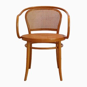 No. 210 Stuhl aus Bugholz und Rattan von Ligna, 1960er