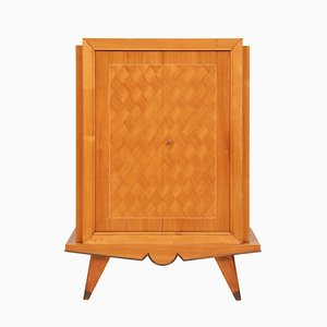 Art Deco French Sycamore Drinks Cabinet by Jallot Maurice and Leon, 1930s