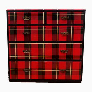 Antique Tartan Patterned Chest of Drawers