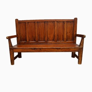 Antique English Oak Bench
