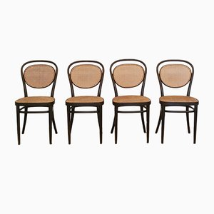 Chaises No. 215R de Thonet, 1976, Set de 4