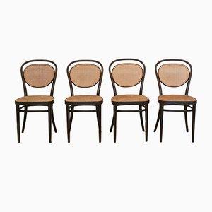 No. 215R Stühle von Thonet, 1976, 4er Set