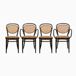 Chaises No 215R de Thonet, 1981, Set de 4