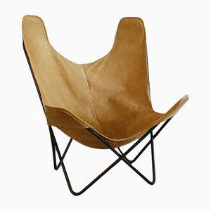 Butterfly Chair aus Metall & Wildleder von Antonio Bonet, Juan Kurchan & Jorge Ferrari Hardy, 1960er
