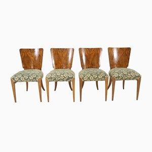 Chaises de Salle à Manger Art Déco Vintage par Jindřich Halabala pour Thonet, Set de 4