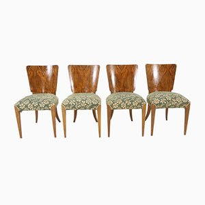 Vintage Art Déco Esszimmerstühle von Jindřich Halabala für Thonet, 4er Set