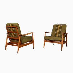 Vintage Lounge Chairs by Arne Vodder for France & Søn, Set of 2