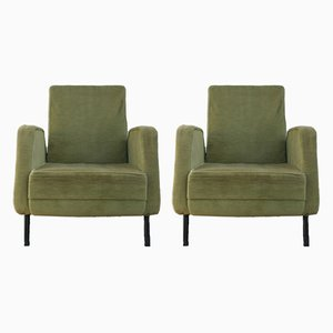 Vintage French Lounge Chairs from Airborne, Set of 2