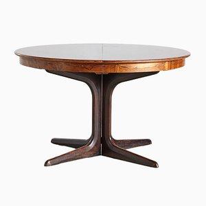 Mesa de comedor Mid-Century de palisandro de Erik Buch para CJ Rosengaarden, años 60