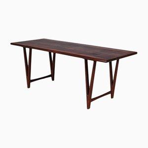 Tavolino da caffè vintage in palissandro di E. W. Bach per Møbelfabrikken Toften