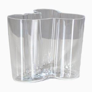 Vaso Savoy vintage in vetro di Alvar Aalto per Iittala