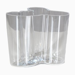 Vintage Glass Savoy Vase by Alvar Aalto for Iittala