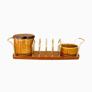 Vintage Wyncraft Toast Rack Set from Crown Devon, 1960s