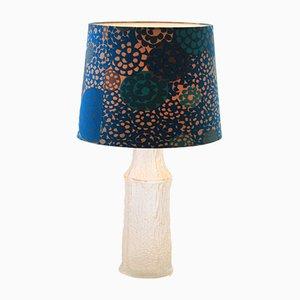 Lampada da tavolo moderna in tessuto, vetro, acrilico di Timo Sarpaneva per Luxus, Scandinavia, 1968