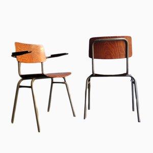 Industrielle Vintage Schreibtischstühle, 2er Set