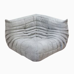 Light Grey Microfiber Togo Corner Sofa by Michel Ducaroy for Ligne Roset, 1970s