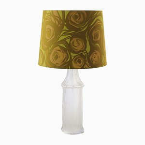 Scandinavian Modern Fabric, Glass & Acrylic Table Lamp by Timo Sarpaneva for Luxus, 1968