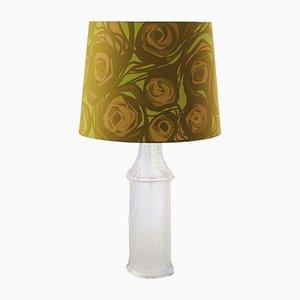 Scandinavian Modern Fabric, Glass & Acrylic Table Lamp by Timo Sarpaneva for Luxus, 1968