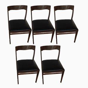Vintage Esszimmerstühle aus Palisander, 5er Set