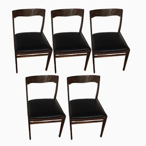 Vintage Rosewood Dining Chairs, Set of 5