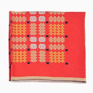 Geometric Bed Blanket in Red by Roberta Licini