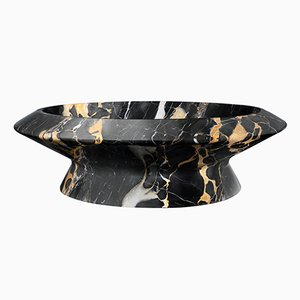 Schwarze Amalthea Schale aus schwarzem Portoro Marmor von Ivan Colominas für MMairo
