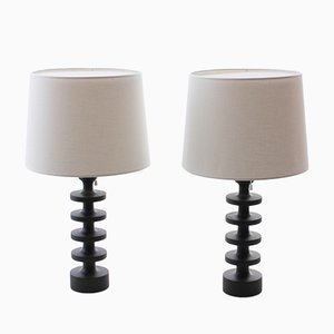 Scandinavian Modern Model 173 Table Lamps by Uno & Östen Kristiansson for Luxus, 1960s, Set of 2