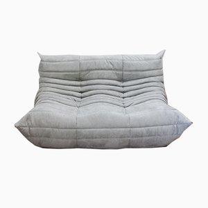 Grey Microfiber Togo 2-Seater Sofa by Michel Ducaroy for Ligne Roset, 1970s