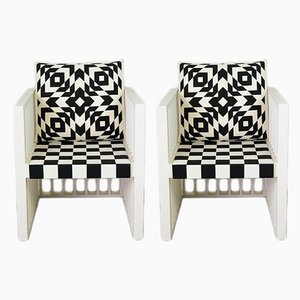Vintage Purkersdorf Armchairs by Josef Hoffmann for Wittmann, Set of 2