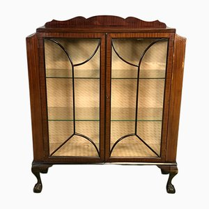 Chippendale Style Mahogany Display Cabinet, 1930s