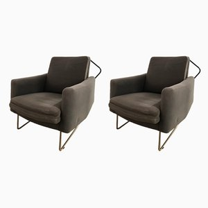 Prelude Lounge Chairs by Louis Paolozzi, 1950s, Set of 2