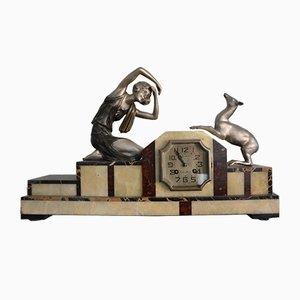 Horloge de Cheminée Art Déco par P. Siega pour Bagrot, France, 1930s
