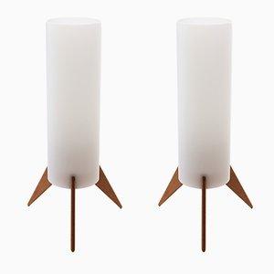 Lampade da tavolo moderne di Uno & Östen Kristiansson per Luxus, Scandinavia, anni '60, set di 2