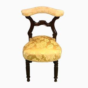 Antiker Louis Philippe Stuhl aus Mahagoni