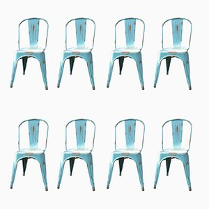 Vintage Dining Chairs by Xavier Pauchard for Tolix, 1980s, Set of 8