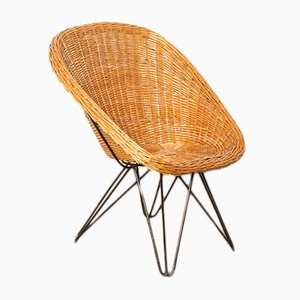 Rattan Bucket Chair, 1960s