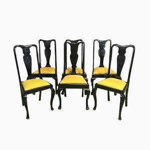 Chaises de Salle à Manger Style Chippendale en Acajou, 1960s, Set de 6