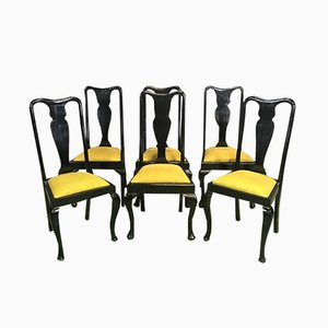 Esszimmerstühle aus Mahagoni im Chippendale-Stil, 1960er, 6er Set