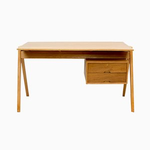 Hillestak Walnut Desk by Robin & Lucienne Day for Hille, 1950s
