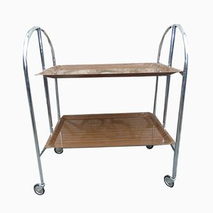 Vintage Industrial Danish Serving Bar Cart, 1970s