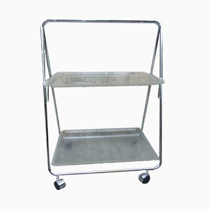 Vintage Industrial Danish Serving Bar Cart