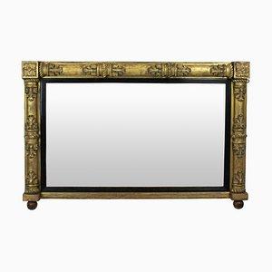 Antiker William IV Spiegel mit Overmantel Spiegel