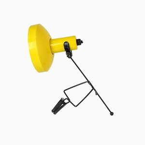 Gelbe japanische Vintage Klemm-Tischlampe von Murata Godo Inc.