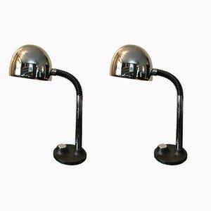Lampes de Bureau par Egon Hillebrand, 1970s, Set de 2