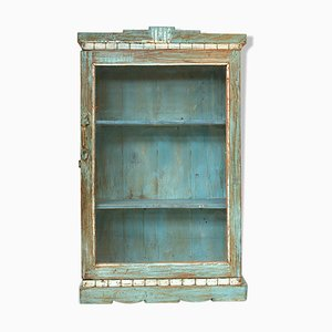 Patinated Wood Display Cabinet, 1940s