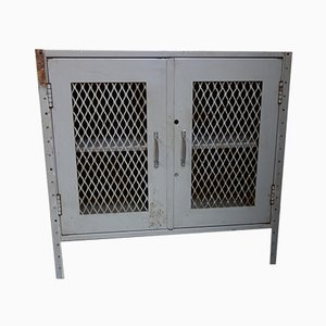 Vintage Industrial 2-Door Bank Locker Cabinet