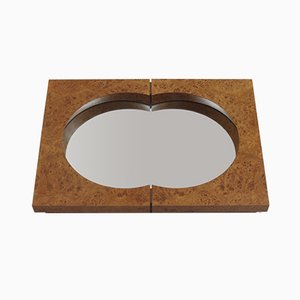 Burr Elm Mirror by Desmond Ryan, 1990s