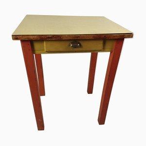 Vintage Esstisch aus Holz & Resopal