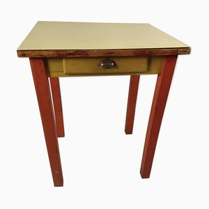 Vintage Wood & Formica Dining Table