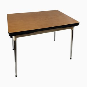 Vintage Brown Formica Dining Table